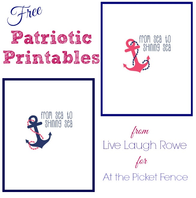 Free Patriotic Printable from LiveLaughRowe for At the Picket Fence