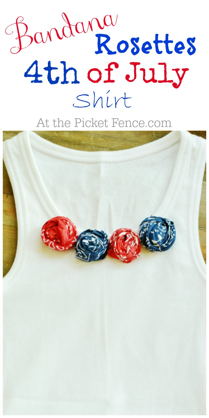 How to make a bandana rosette 4th of July shirt