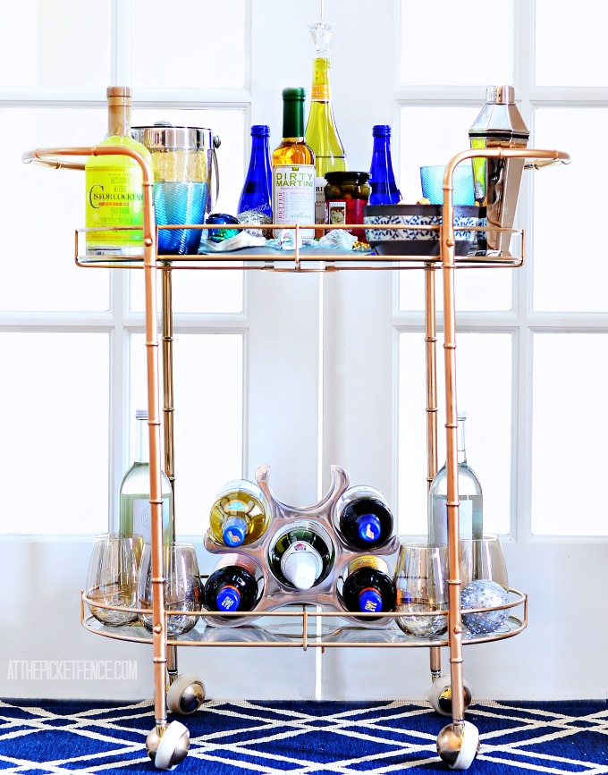 mid century vintage bar cart
