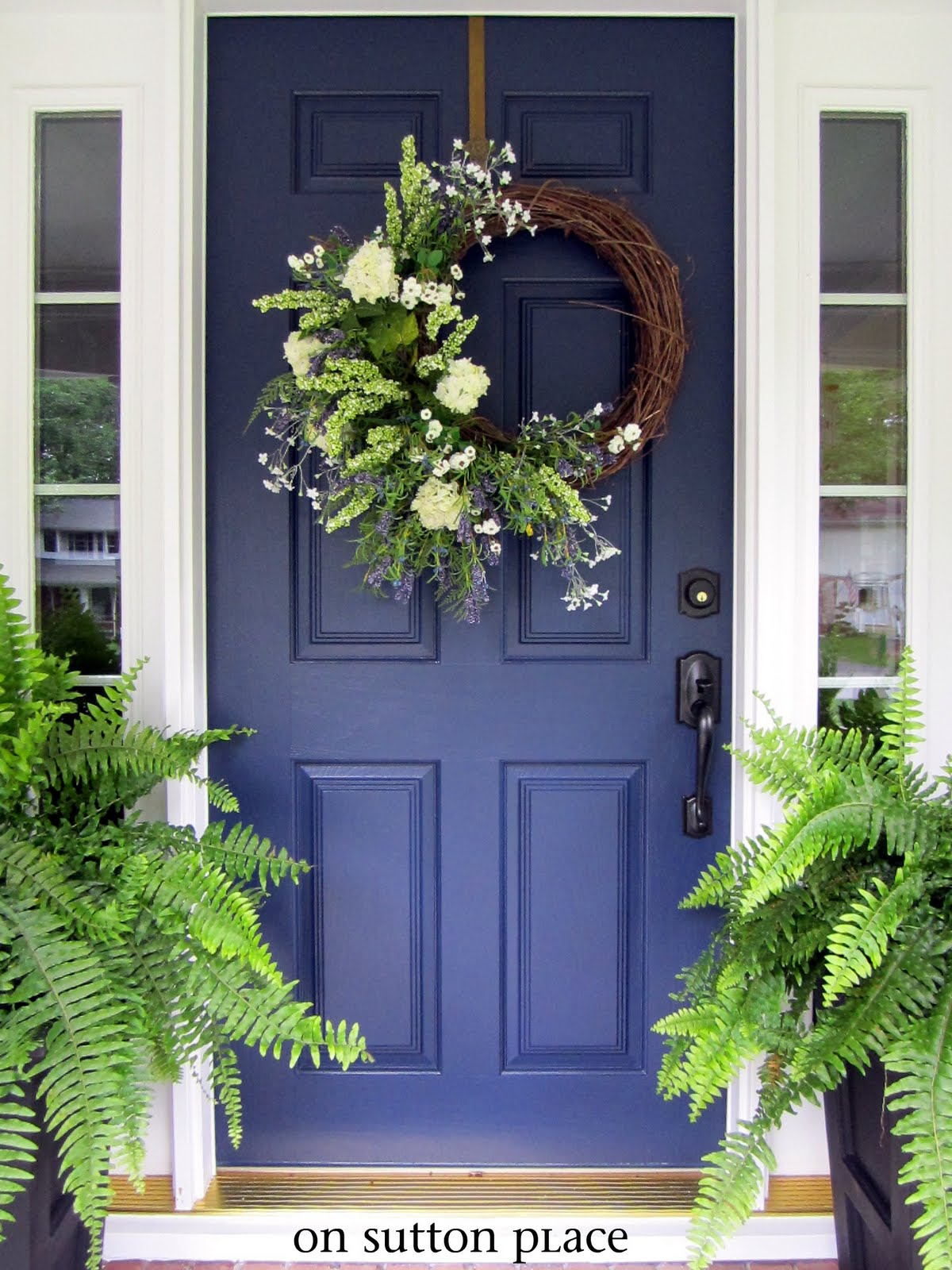 Navy Blue Front Door