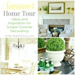 Simple Summer Decorating Ideas and Home Tour atthepicketfence.com