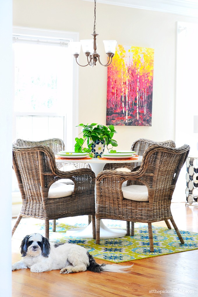 Summer Home Tour Breakfast Room