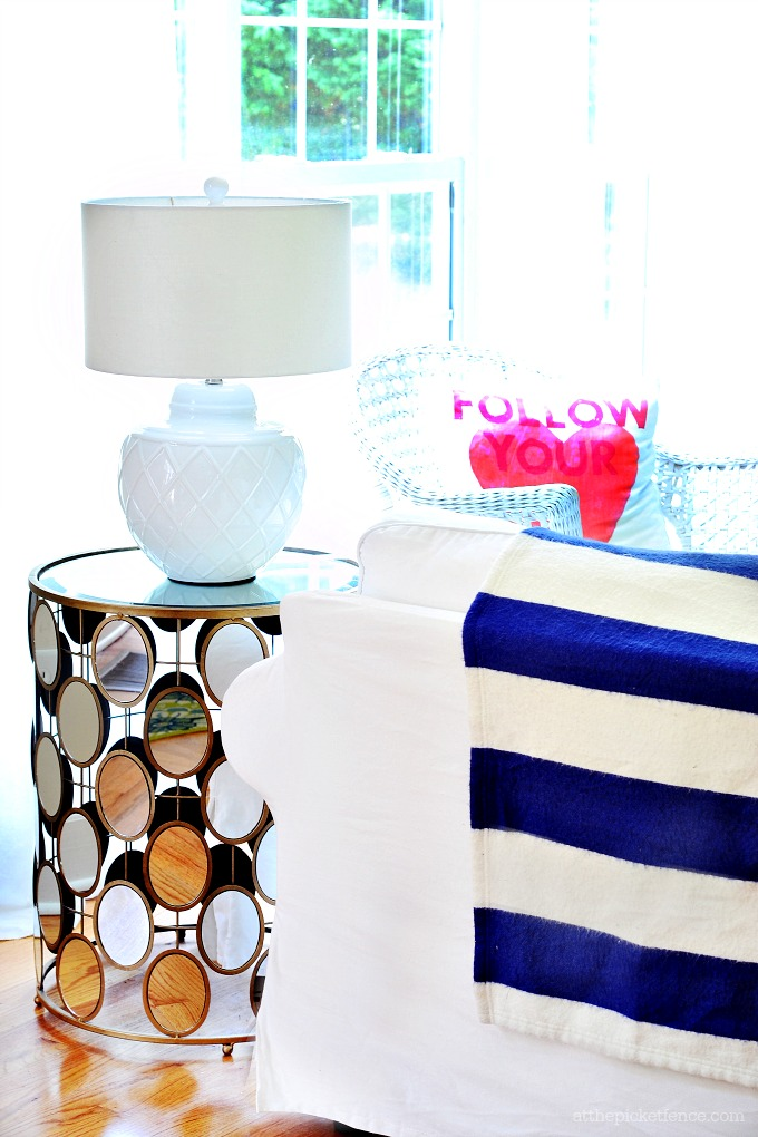 Summer Home Tour Mirrored End Table