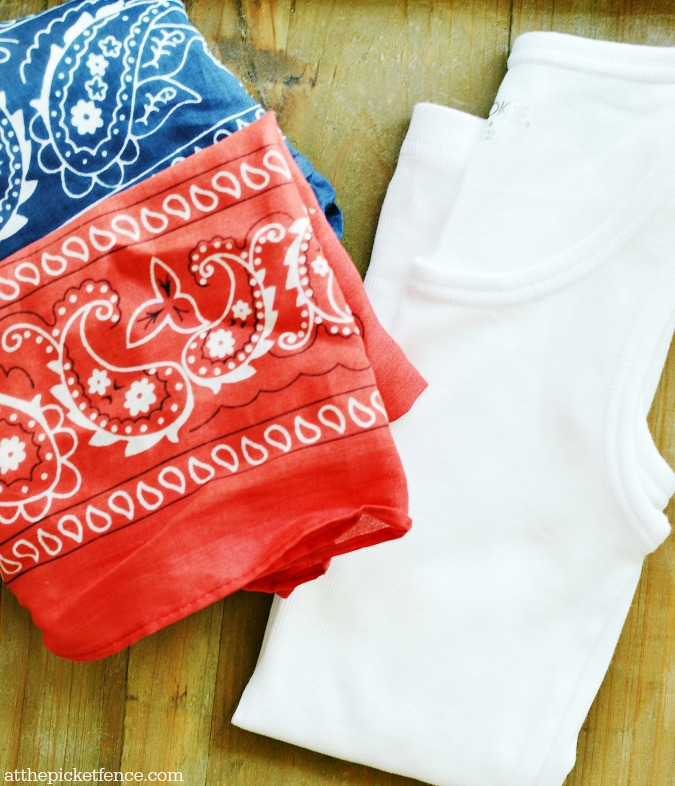 bandana top supplies