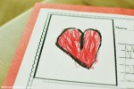 heart on paper card