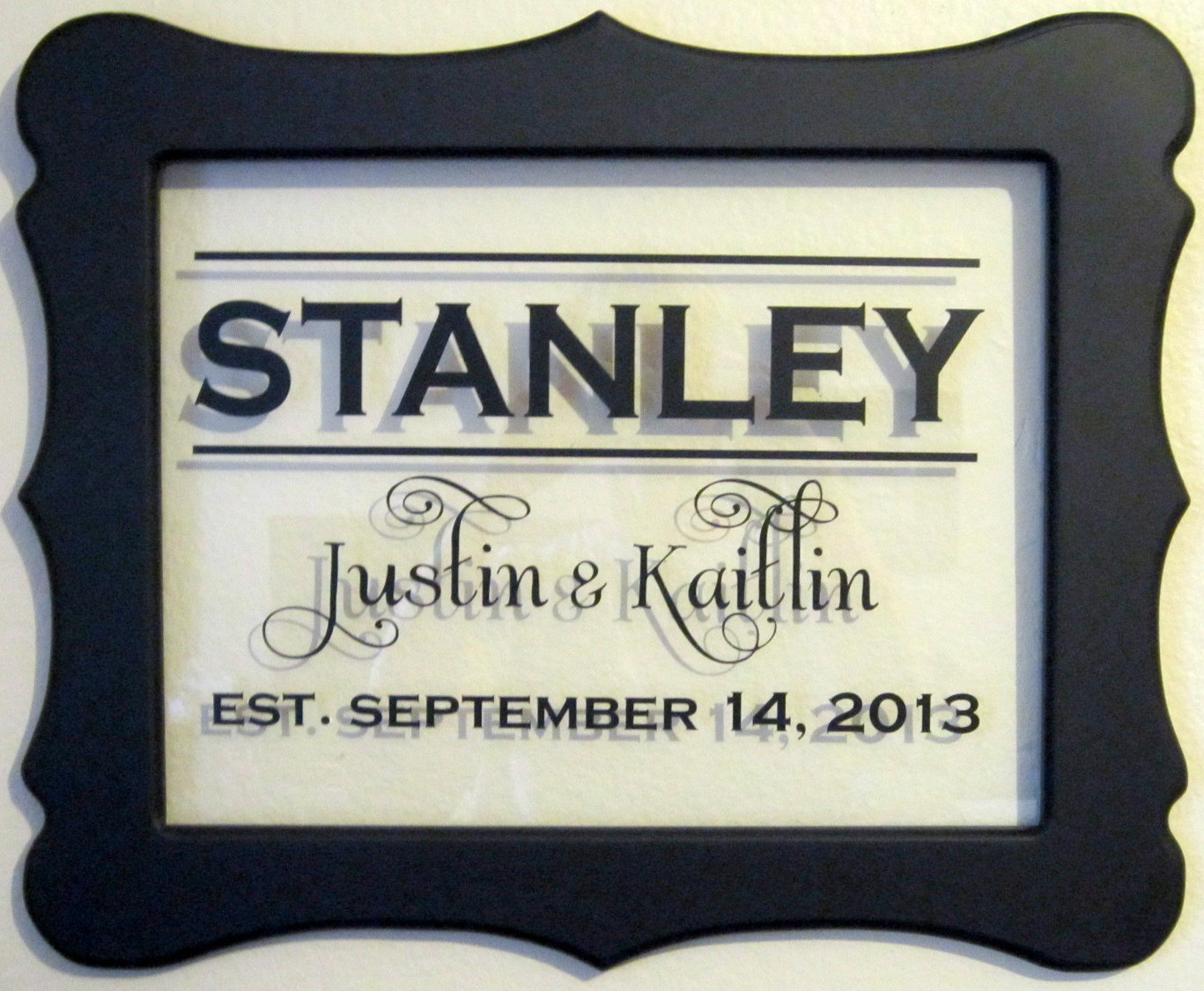 scalloped wedding frame stanley