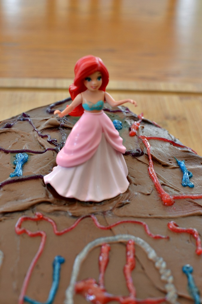 Ariel on top of cake
