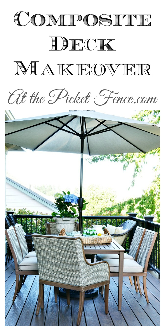 Composite Deck Makeover from atthepicketfence.com