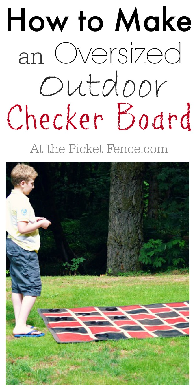 How to make an outdoor checker board atthepicketfence.com