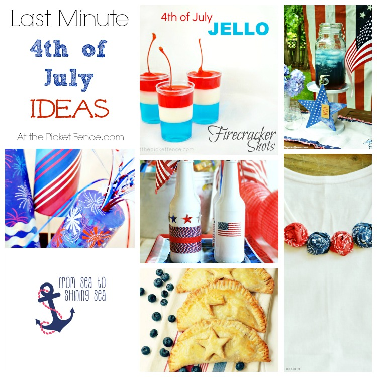 Last Minute 4th of July ideas from atthepicketfence.com