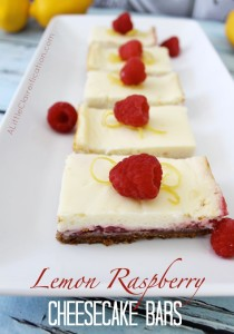 Lemon Raspberry Cheesecake Bars PM