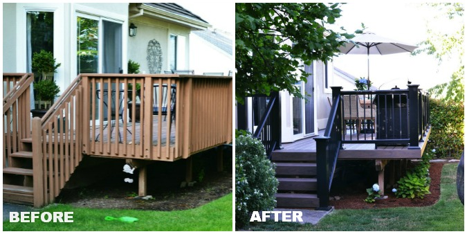 before and after deck makeover