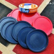 scotch blue tape outdoor checker board project