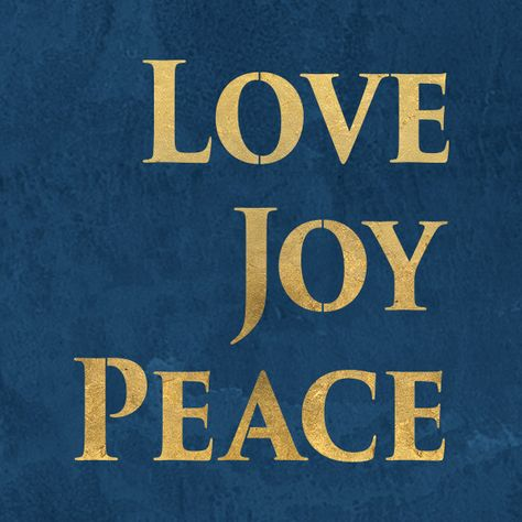 Love Joy Peace Stencil from Royal Design Studio