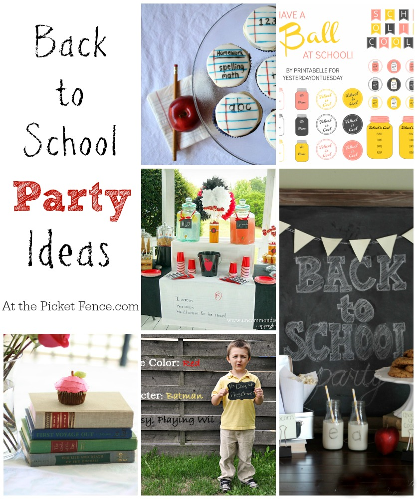 Back to school party ideas from atthepicketfence.com