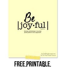 Be Joyful.  Free Printable[1]