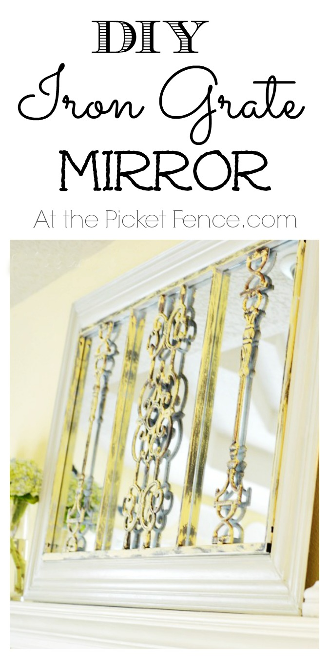 DIY Framed Iron Grate Mirror