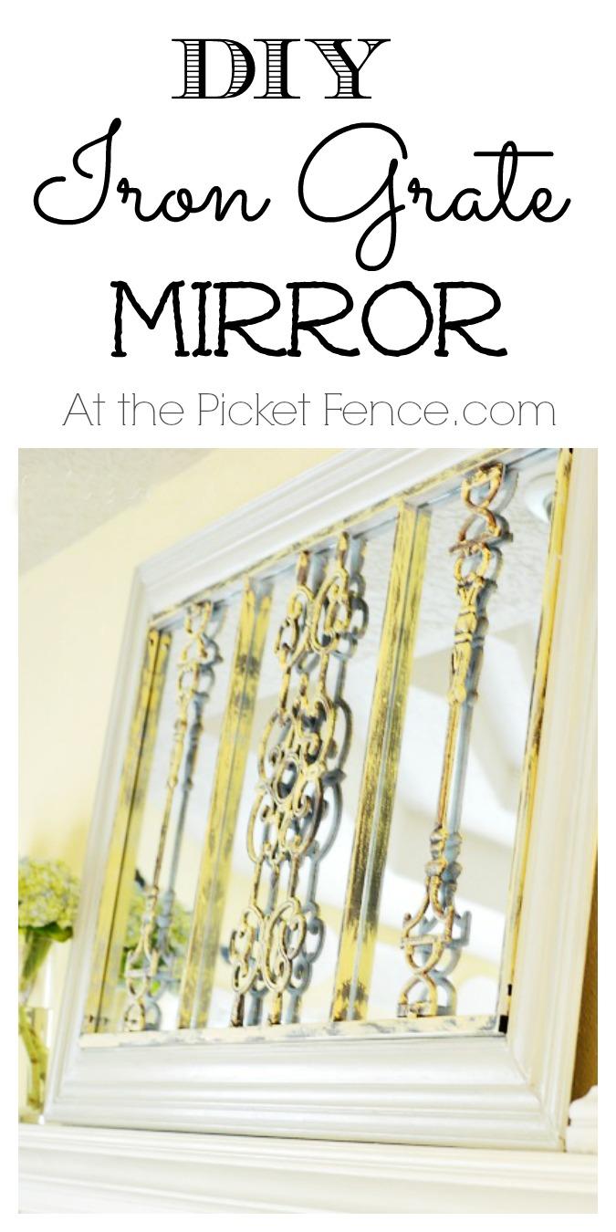 DIY Framed Iron Grate Mirror