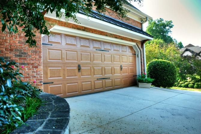 Garage door after