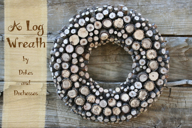 DIY Fall Log Wreath