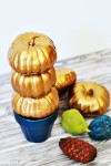 Miniature Gold Pumpkin Topiary