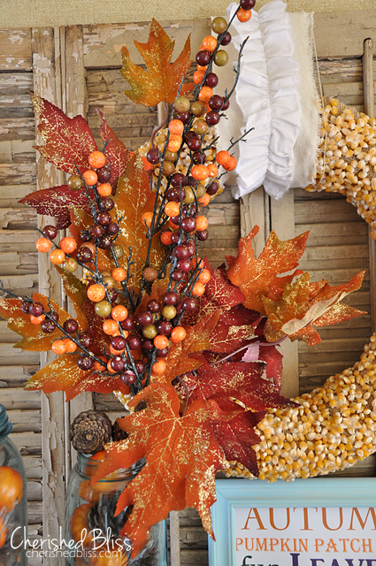 Natural Popcorn Kernel Wreath