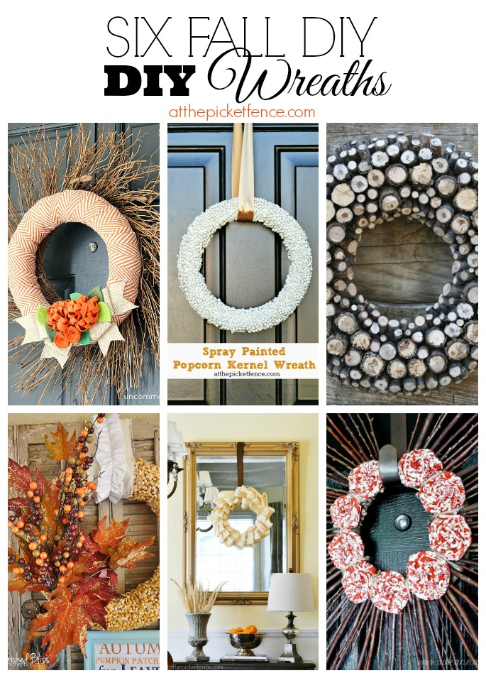 Six Fall DIY Wreaths