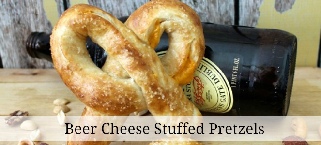 beer cheese pretzels slide