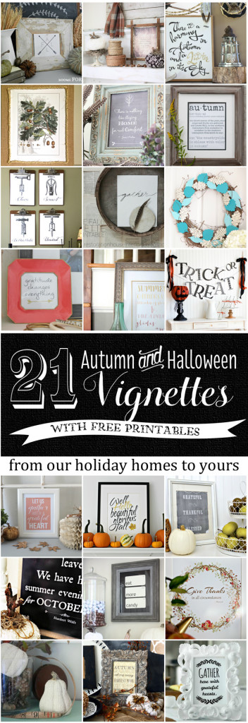 21 FREE Autumn and Halloween Printables and Vignette ideas!