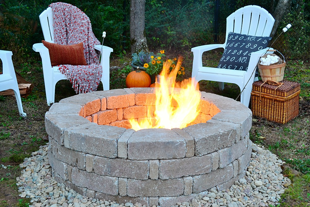 Dry Stack Fire Pit Project 11