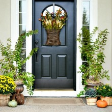 Fall Front Porch Decor from atthepicketfence.com