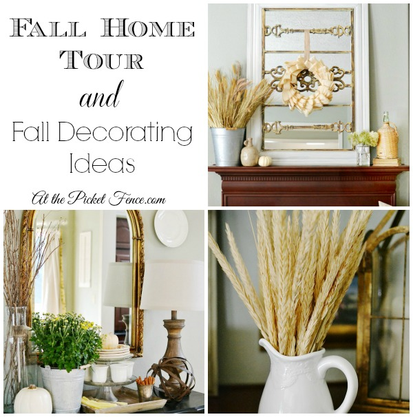 Fall Home Tour and Decorating Ideas from atthepicketfence.com