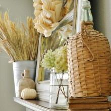 Fall mantel details atthepicketfence.com