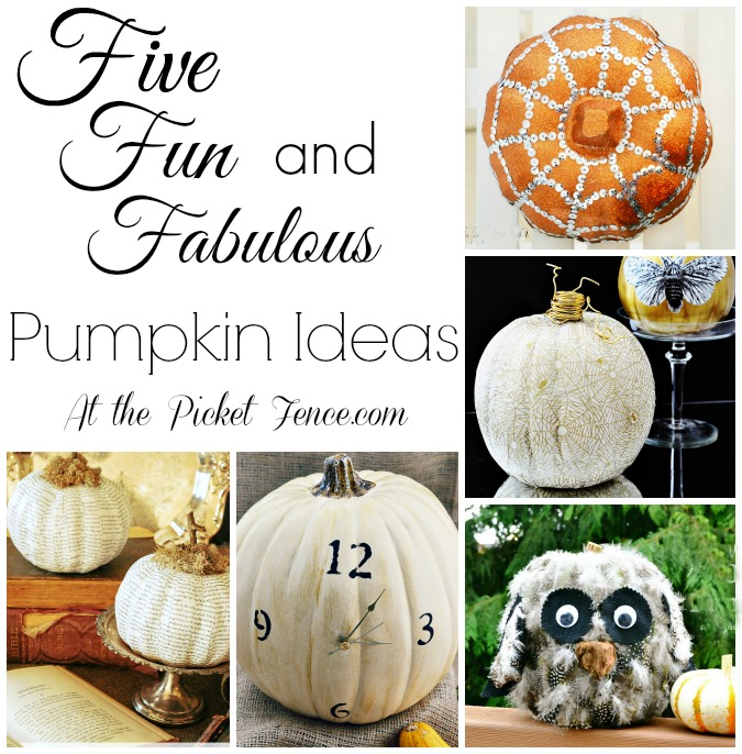 Five fabulous pumpkin ideas from atthepicketfence.com