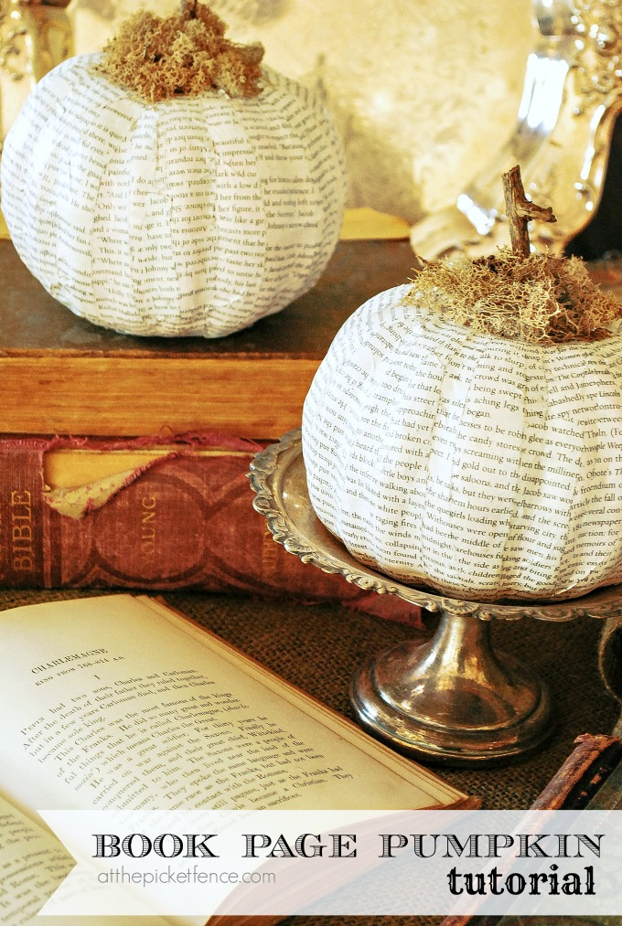 How-to-make-a-book-page-pumpkin