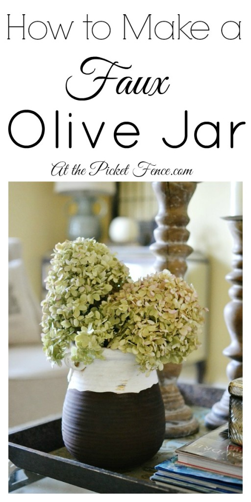 How to make a faux olive jar from atthepicketfence.com