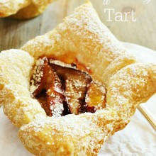 Plum Puff Pastry Tart atthepicketfence.com