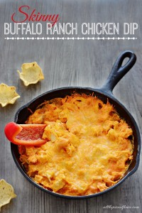 Skinny Buffalo Ranch Chicken Dip