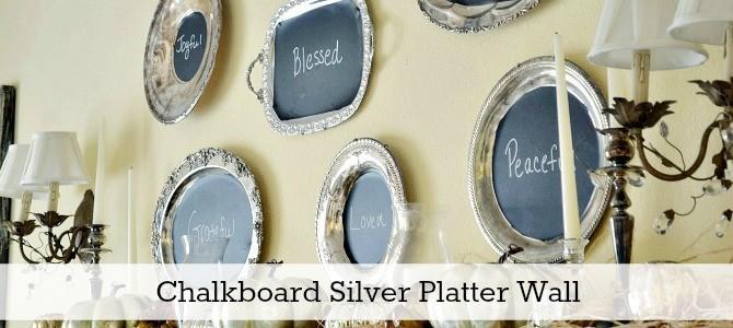 chalkboard tray mantel slide