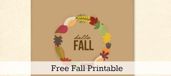 fall printable slide