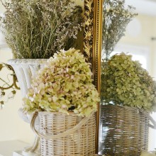 french country mantel decor atthepicketfence.com