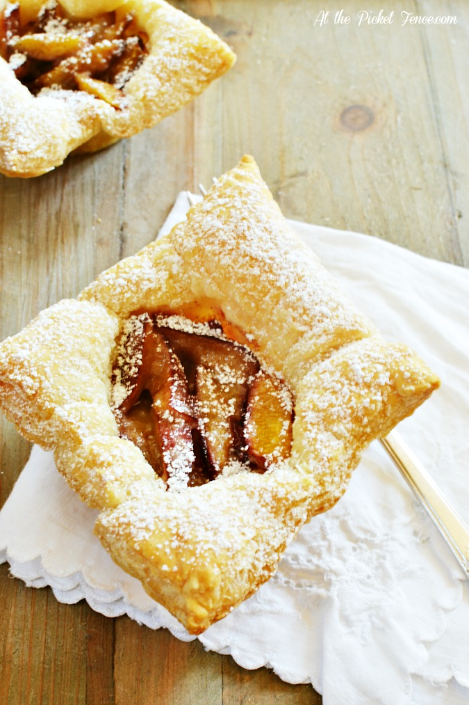 puff pastry plum tart atthepicketfence.com