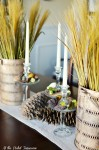 simple fall centerpiece atthepicketfence.com