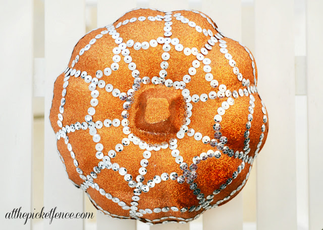 spider web bling pumpkin