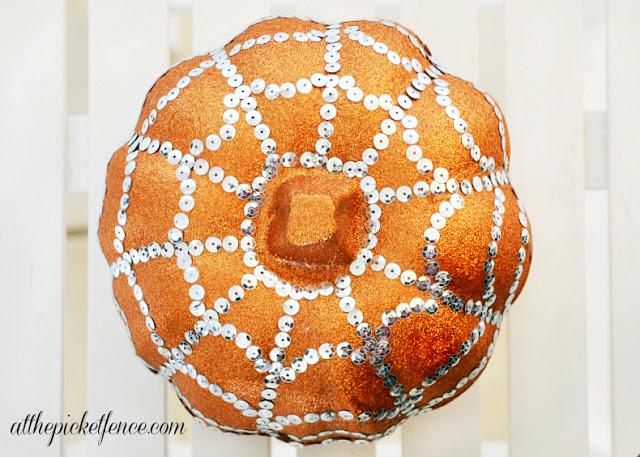 spider web bling pumpkin