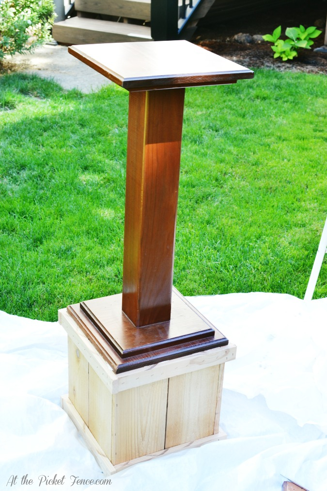 Diy wood plant stand at the picket fence for How to build a box stand