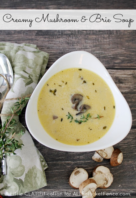 Creamy Brie and Mushroom Soup
