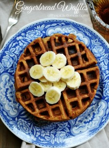 Gingerbread-Waffles from atthepicketfence.com
