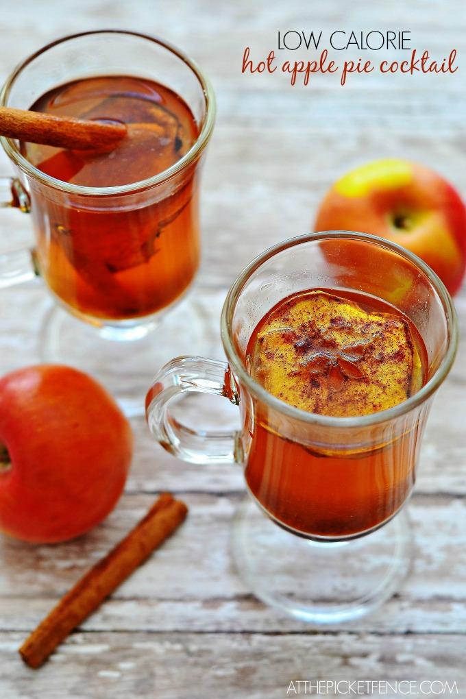 Low Calorie Hot Apple Pie Cocktail