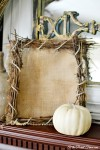 burlap twig frame atthepicketfence.com